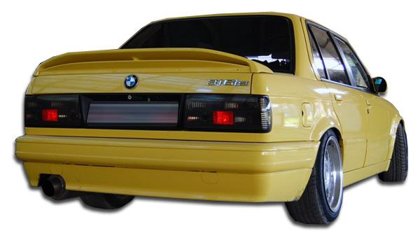 1988-1991 BMW 3 Series E30 2DR 4DR Duraflex M-Tech Rear Bumper Cover - 1 Piece