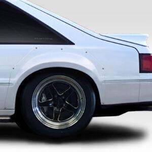 "1979-1993 Ford Mustang Duraflex C Tech 2"" Wide Body Rear Fender Flares - 2 Piece"